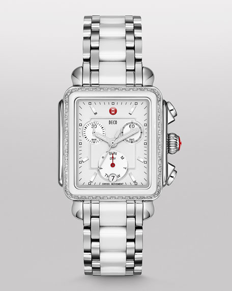 MICHELEDeco Diamond Ceramic & Steel Watch Head