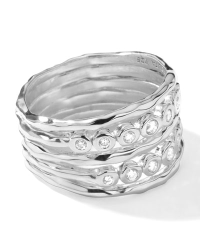 Ippolita Sterling Silver Rock Candy Ring in Diamonds, .29ct
