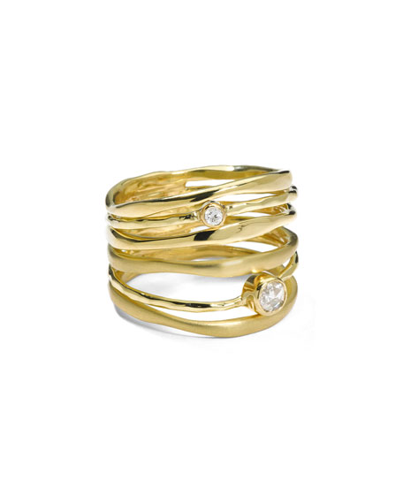 Ippolita 18K Gold Stardust Movie Star Six-Band Ring