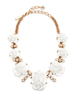 Oscar de la Renta Resin Rose Necklace