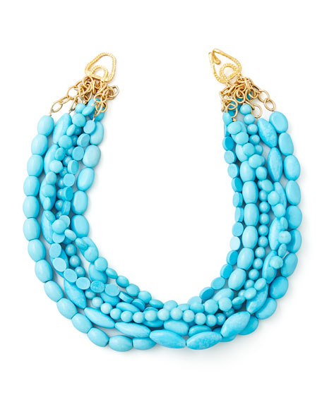 Moon and Lola Multi-Strand Turquoise Magnesite Necklace &