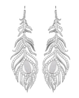 Kendra Scott Luxe Pave Linear Druzy Feather Earrings