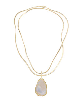 Kendra Scott Luxe Branch-Bezel Druzy Pendant Necklace