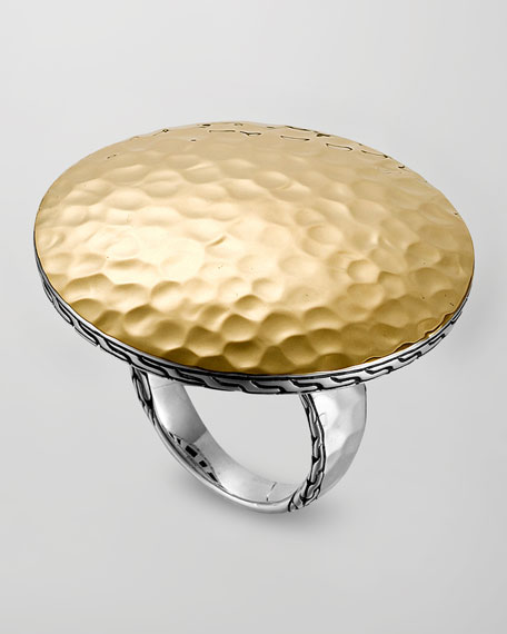 Palu Silver & Gold Round Ring, Large