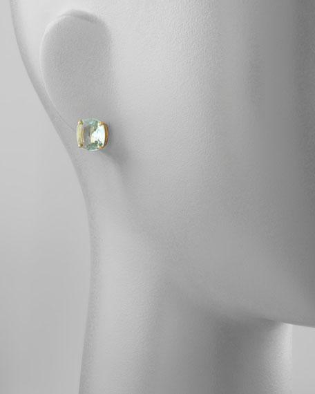 kate spade new york small square stud earrings, blue