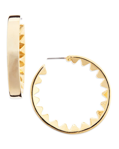 Lotus Inside-Stud Hoop Earrings