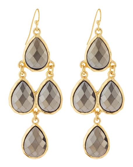 Tiered Crystal Drop Earrings