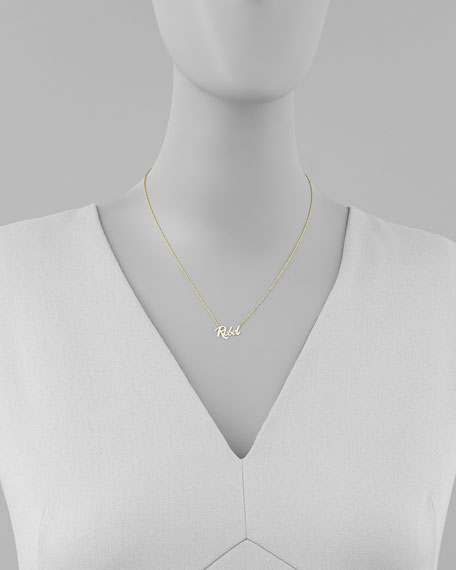 Mini Rebel 14k Gold Necklace