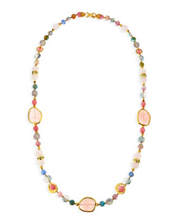 "Jose & Maria Barrera Multi-Stone Single Strand Necklace, 36""L"