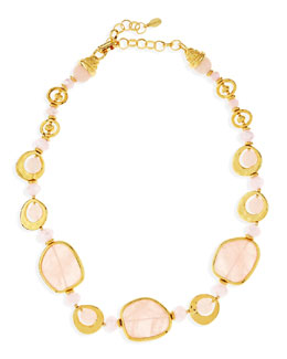 Jose & Maria Barrera Short Light Pink Quartz Necklace