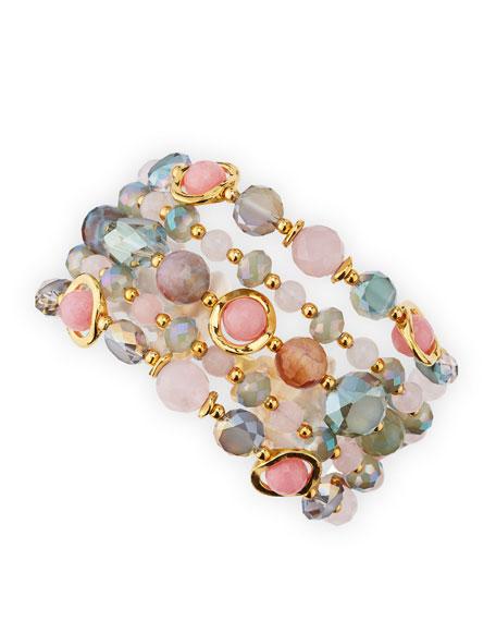 Multi-Stone Bracelet, Pink/Multi