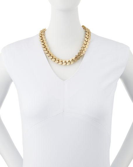 """Brass Curb Chain Necklace, 19""""L"""