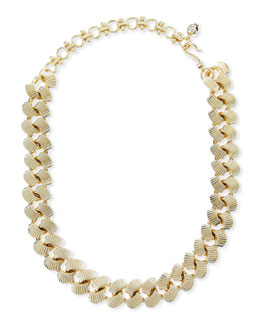 "Lee Angel Brass Curb Chain Necklace, 19""L"