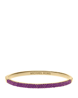 Michael Kors  Camille Pave Bangle, Iris/Golden