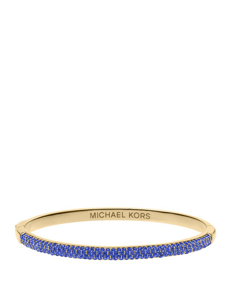 Camille Pave Bangle, Sapphire/Golden