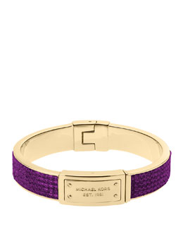 Michael Kors  Pave Plaque Bangle, Iris/Golden