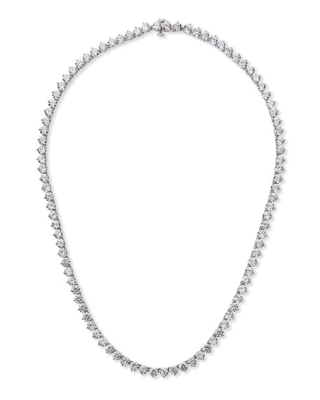 Three-Prong CZ Vermeil Tennis Necklace