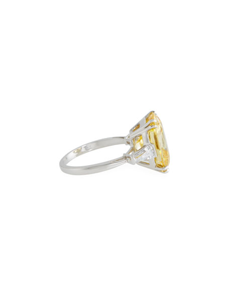 Canary Cubic Zirconia Cushion Ring, 8.75 TCW
