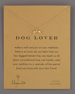 Dogeared Dog Lover Bone-Pendant Necklace
