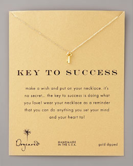 Dogeared Key to Success Pendant Necklace