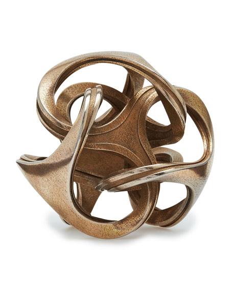 3-D Printed Orb Stainless Steel Sculpture
