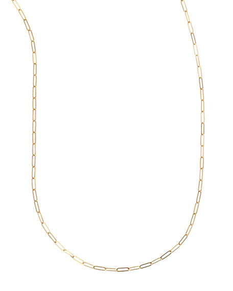 """Sarah Chloe Plated Oval-Link Chain Necklace, 36""""L"""