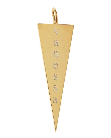 Sarah Chloe Personalized Joanna Initial Dagger Charm