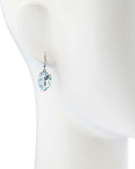 Midnight Marquise Topaz & Pave Diamond Earrings