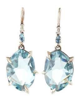 Alexis Bittar Fine Midnight Marquise Topaz & Pave Diamond Earrings