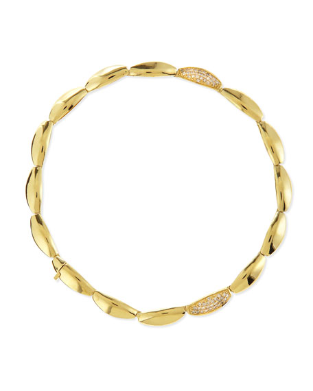 18k Gold Pave Diamond-Station Bracelet
