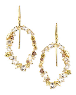 Alexis Bittar Fine 18k Golden Ice Diamond Oval Earrings