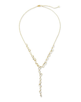 Alexis Bittar Fine 18k Golden Ice Clear Quartz Y-Drop Necklace