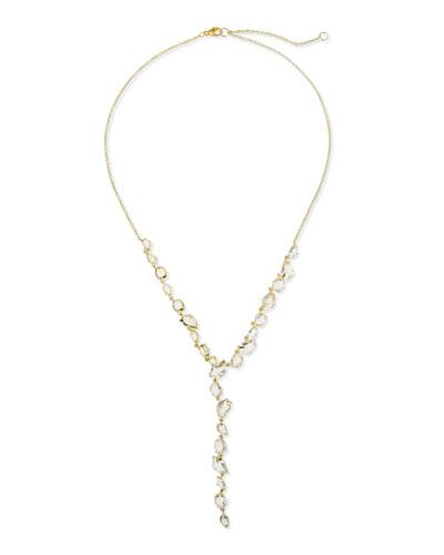 Alexis Bittar Fine 18k Golden Ice Clear Quartz Y-Drop Necklace
