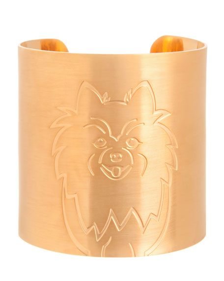 K Kane 18k Gold-Plated Pomeranian Dog Cuff