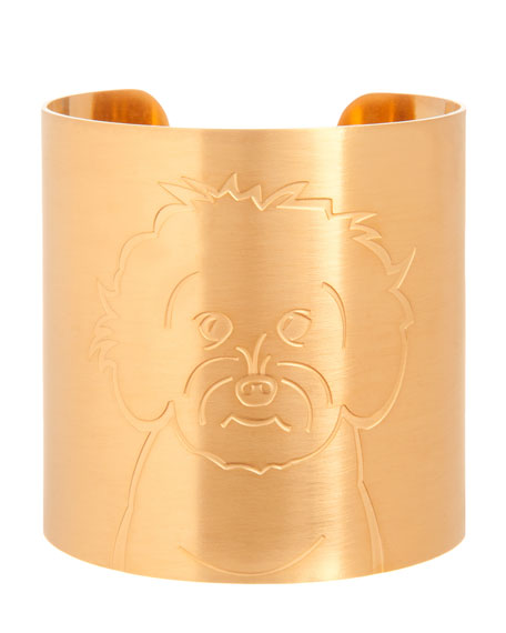 K Kane 18k Gold-Plated Maltipoo Dog Cuff