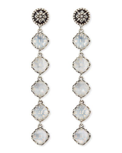 Aura 5-Stone Mother-of-Pearl Drop Earrings