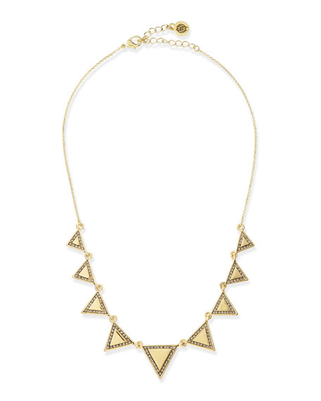 Athena Crystal Triangle Collar Necklace