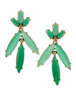 Oscar de la Renta Faceted Chandelier Clip-On Earrings, Multicolor