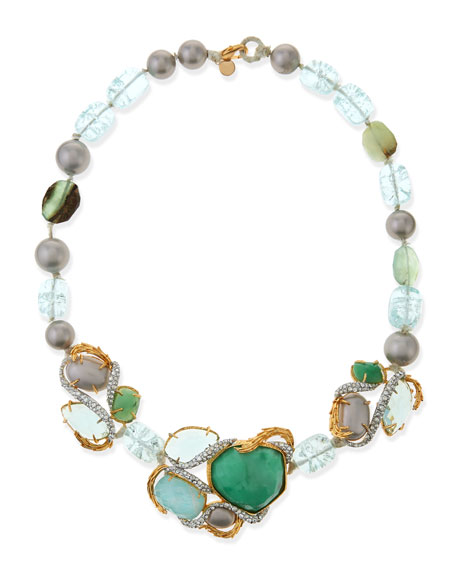 Maldivian Necklace with Green Stones