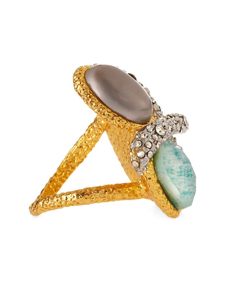 Maldivian Multi-Stone Cocktail Ring