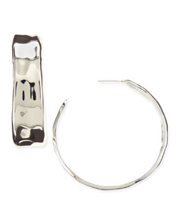 Nest Silver-Plated Handmade Hoop Earrings