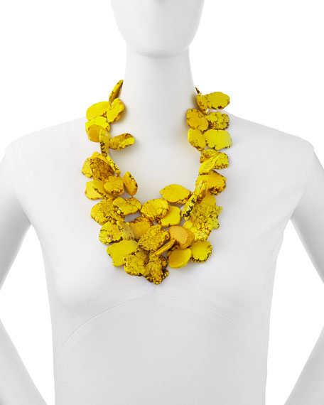 Chunky Yellow Jasper Hand-Knotted Necklace
