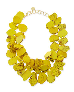 Nest Chunky Yellow Jasper Hand-Knotted Necklace