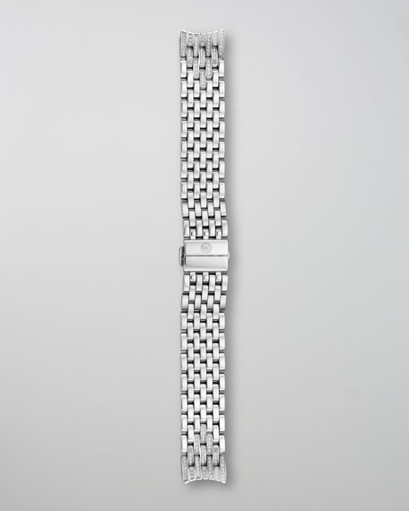 MICHELE 18mm Serein Diamond Taper 7-Link Bracelet Strap
