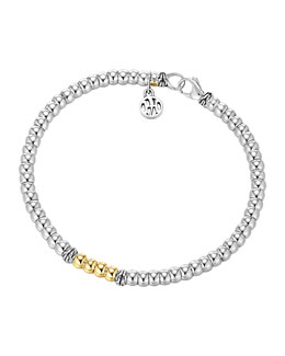 John Hardy Bedeg Silver & Gold Beaded Bracelet