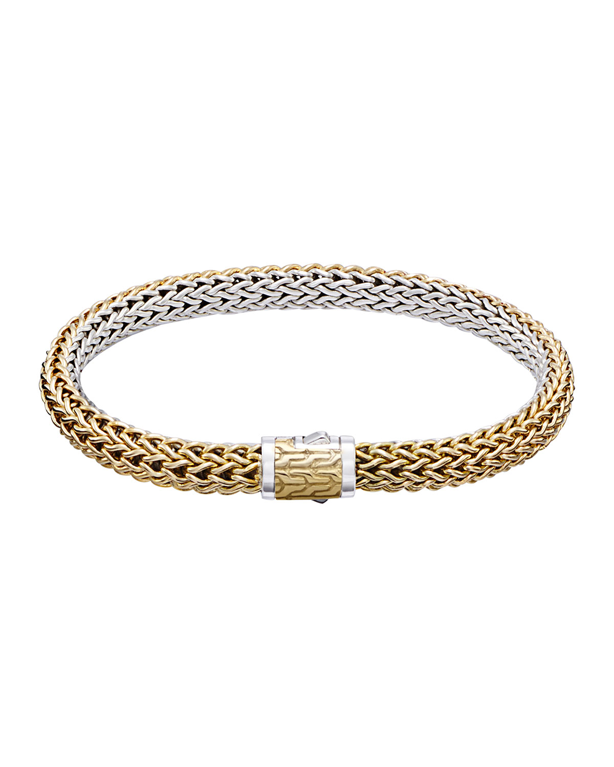 Clic Chain Small Reversible Silver Gold Bracelet