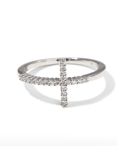 roberto coin white gold cross ring