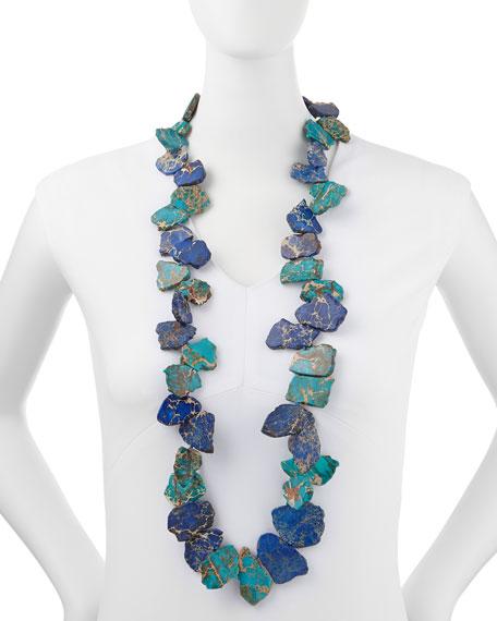 Single-Strand Blue Jasper Chunky Necklace