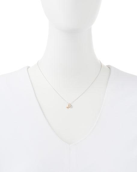 14k White & Rose Gold XO Necklace
