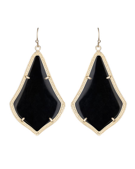 Alexandra Earrings, Black